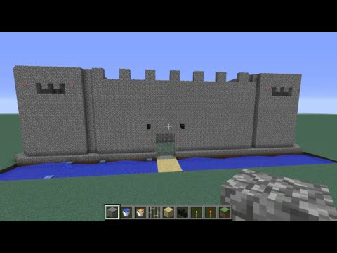 Minecraft: build a castle EASY with lava and water