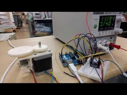 Measure stepper motor speed by DC motor
