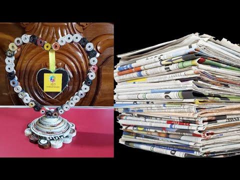 How to make a newspaper showpiece | Best of waste newspaper Diy Craft Idea