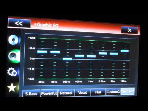 how to tune the audio settings sound and equilzer on your car stereo deck headunit