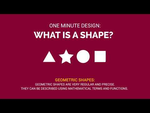 One Minute Design: What is a shape?