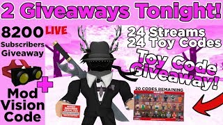 🌟Roblox Live!🌟 Toy Code Giveaway Tonight! Playing MM2 + Chill Games! Plus  Subscriber Giveaway! - PlayKindle org