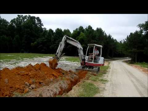 Trenching with the Mini Excavator