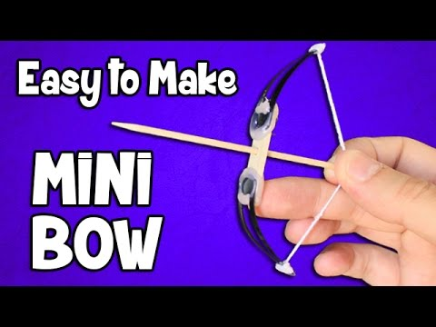 How to make a Mini Bow and Arrow | Easy powerful bow