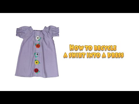 How to recycle a shirt into a dress - DIY recycling / sewing project - #4