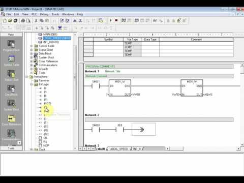 AC Motor Speed Control With PLC using Step7 Microwin Part1