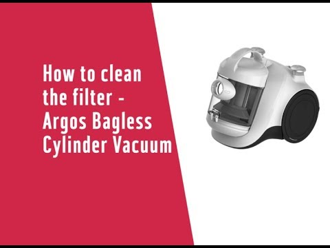 How to clean the filter - Argos Bagless Cylinder Vacuum Cleaner (4181767)