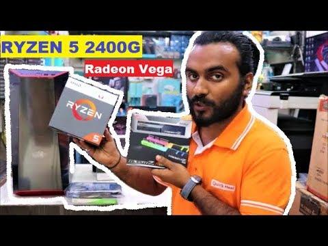 AMD Ryzen 5 2400G PC Build   On board Radeon Vega