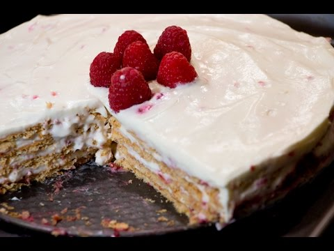 No Bake Raspberry Cream Cake | Holiday Dessert | Rookie With A Cookie
