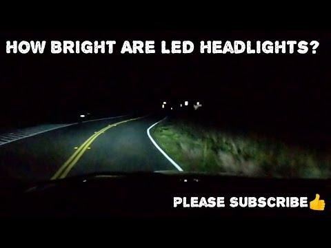 LED Headlights Conversion 3rd Gen Dodge Ram Test Drive