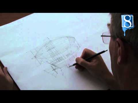 How to Draw a Steampunk Airship step-by-step by Mark Bergin