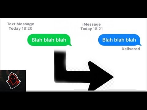 How To Change Text Color From Green to Blue! (SMS-iMessage)