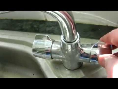 How to stop a monobloc tap outlet leaking (emergency repair)
