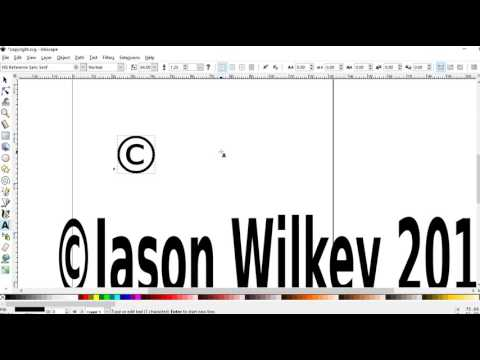 Making Copyright Symbol In Inkscape For Merch By Amazon Shirts
