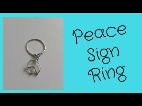 DIY Peace Sign Ring