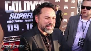 "Oscar De La Hoya on Golovkin ""hes funny, I Love The Guy, He"