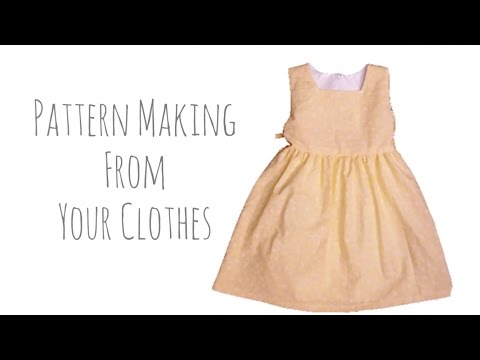 Sew with me | Make sewing patterns from your clothes