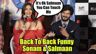 Back To Back Funny Moments | The Zoya Factor Trailer Launch | Sonam K Ahuja | Dulquer Salmaan