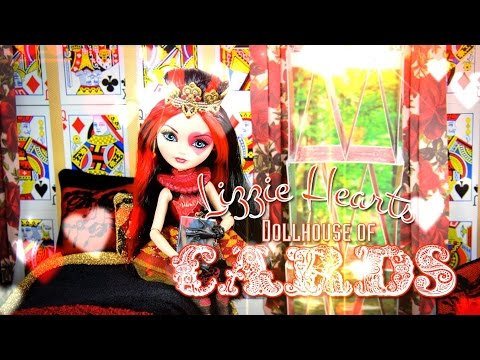 DIY - How to Make: Dollhouse of Cards plus Lizzie Hearts - Handmade - Doll - Crafts