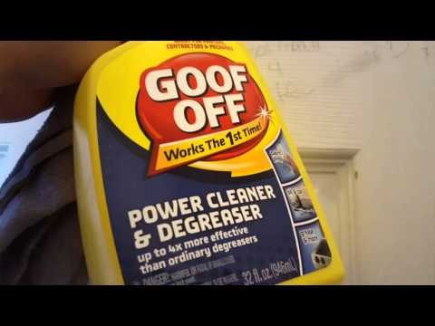 How to remove stains off walls with GOOF OFF!