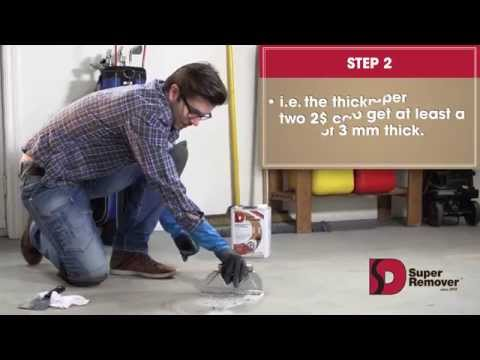 Super Remover: Instructions to remove Paint from Concrete