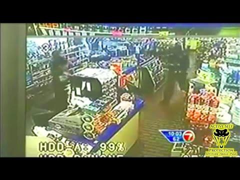 Alert Clerk Puts Armed Robber Down Hard | Active Self Protection