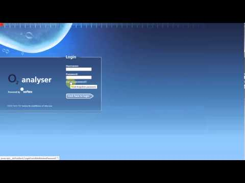 How to Login to O2 Analyser