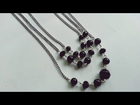 Make a Multi Strand Chain-Bead Necklace - DIY  - Guidecentral