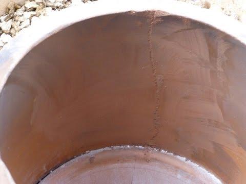Repairing a crack in my Tandoor