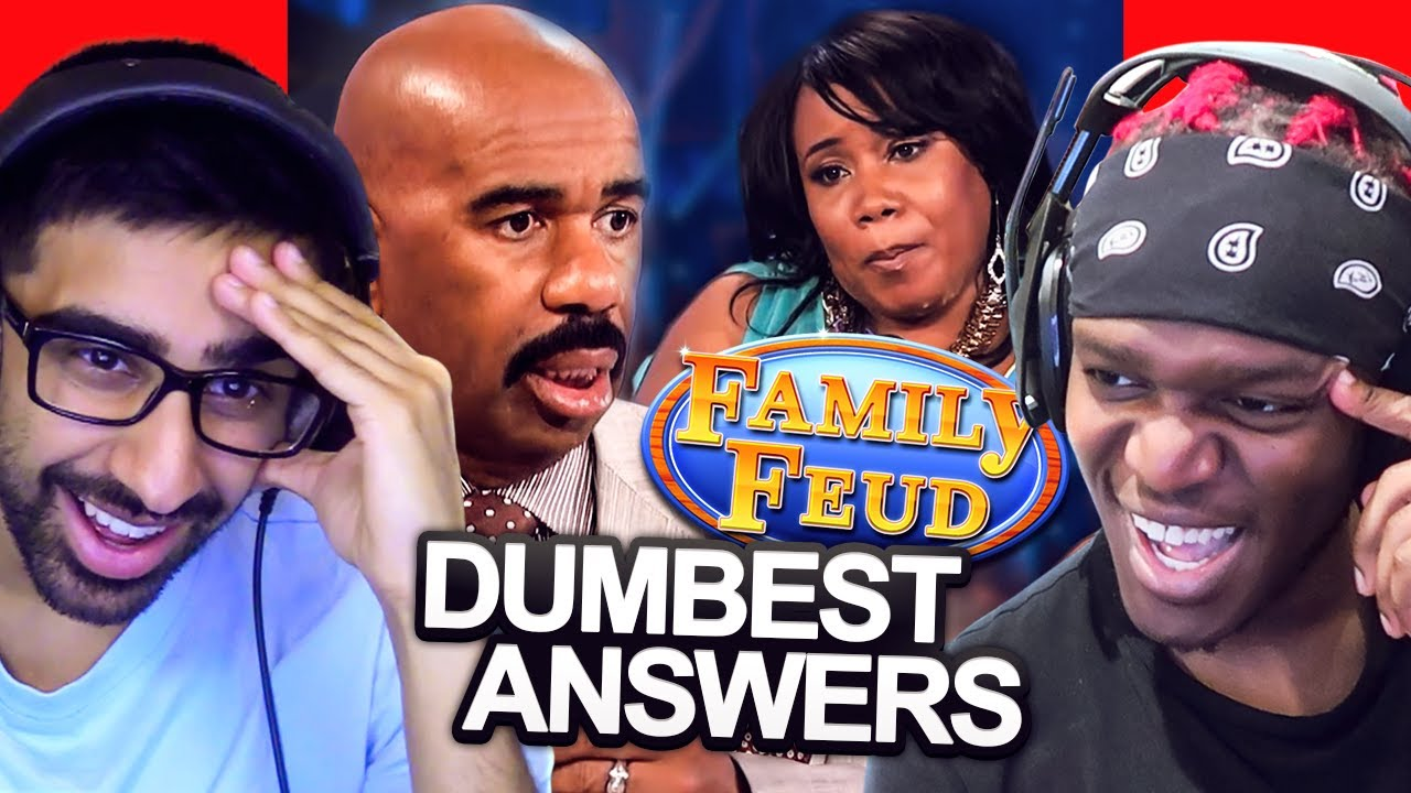 SIDEMEN REACT TO DUMBEST FAMILY FEUD ANSWERS