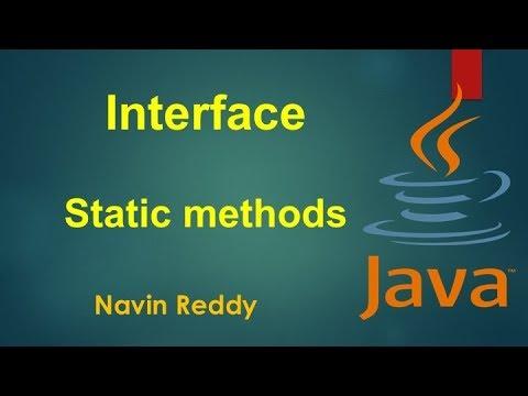 #7.8 Java Tutorial | Static method in Interface