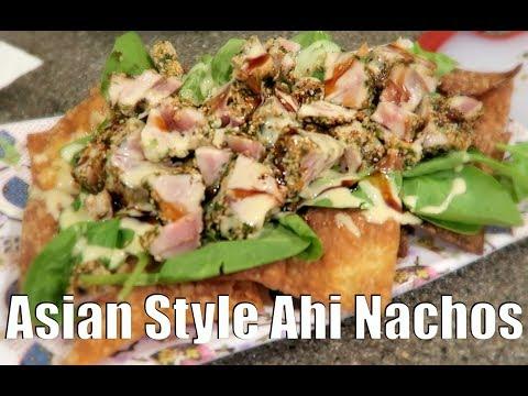 ASIAN STYLE AHI NACHOS RECIPE