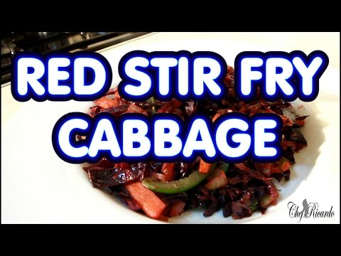 RED STIR FRY CABBAGE WITH MIXED VEGETABLES