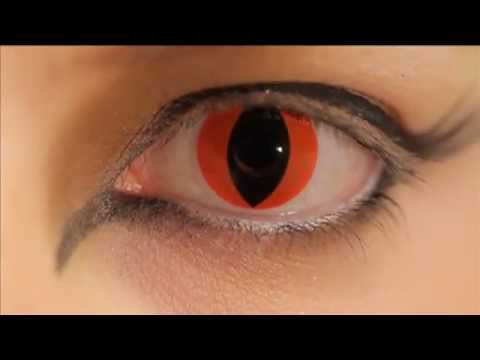 Red Cat Eye Coloured Contact Lenses