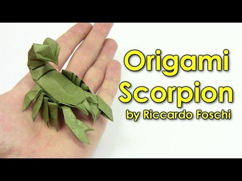 Origami scorpion by Riccardo Foschi - Origami easy tutorial