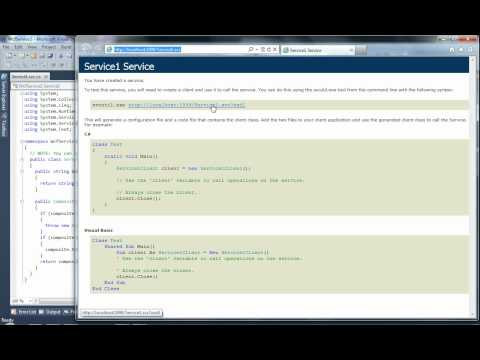 Use WCF Test Client to test WCF Service Application