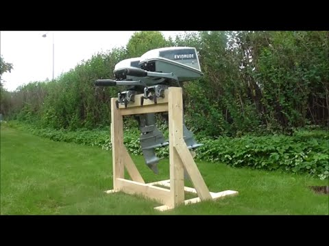 Wooden Twin Outboard Stand