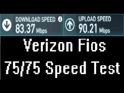 Verizon FiOS Quantum 75/75 Speed Test