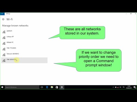 How to change priority of wireless networks in Windows 10
