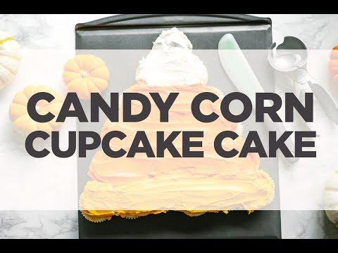 Candy Corn Cupcake Cake