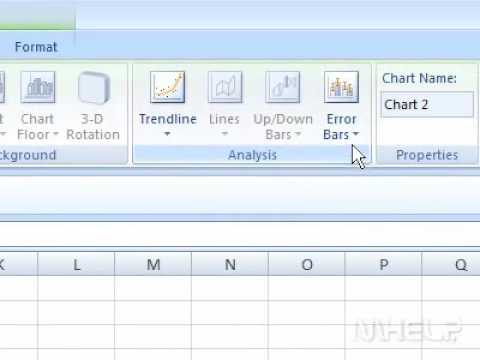 How to add error bars in a spreadsheet chart