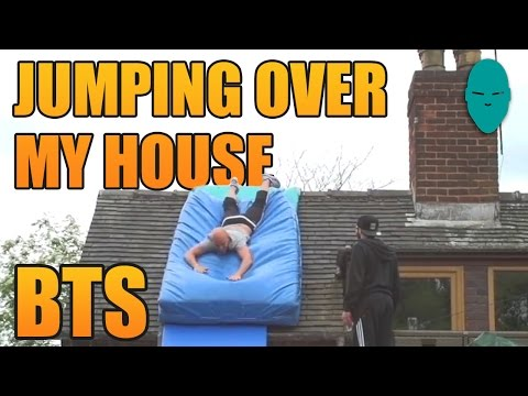 Jumping Over My House Behind The Scenes | Damien Walters
