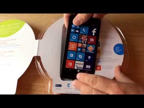 Microsoft Lumia 640 4G LTE Smartphone AT&T GoPhone Unboxing 8-10-15