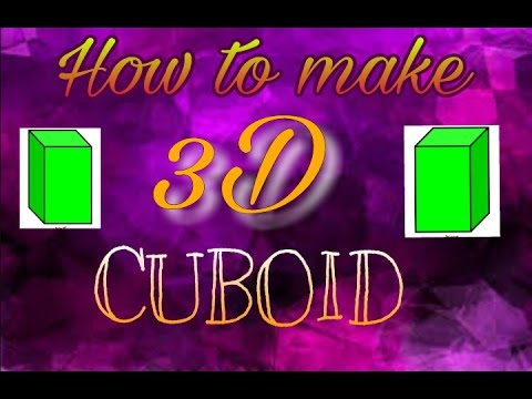 How to make a 3D cuboid || easy paper cuboid.||
