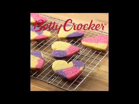 Marbled Heart Sugar Cookie Cutouts