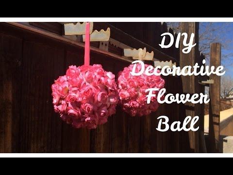 DIY Decorative Flower Ball