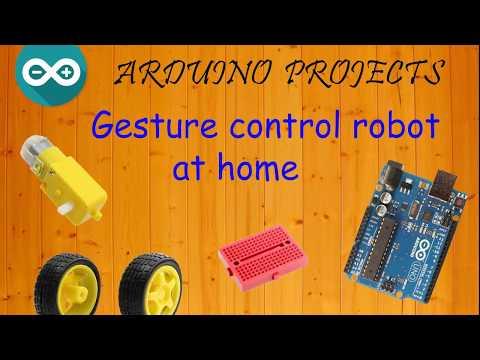 How to make Arduino gesture control robot at home (Hướng dẫn làm Robot điều khiển bằng hành động)