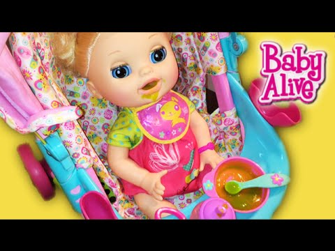 Chinese Baby Alive Doll Feeding and Huge Poopy Diaper