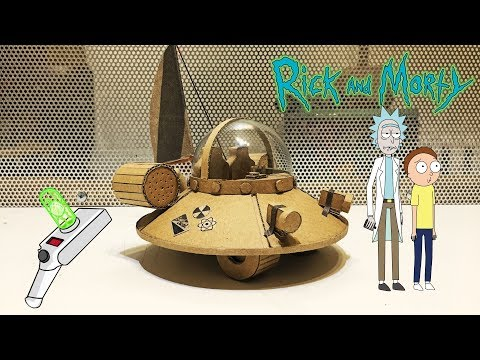 How to make Rick and Morty UFO Space Cruiser from cardboard and light bulb