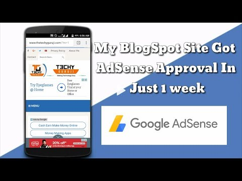 My Blogger Site Got AdSense Approval Within 1 Week | Simple way to get AdSense approval